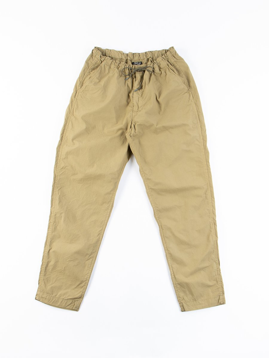 Gold Brown Cotton Poplin New Yorker Pant