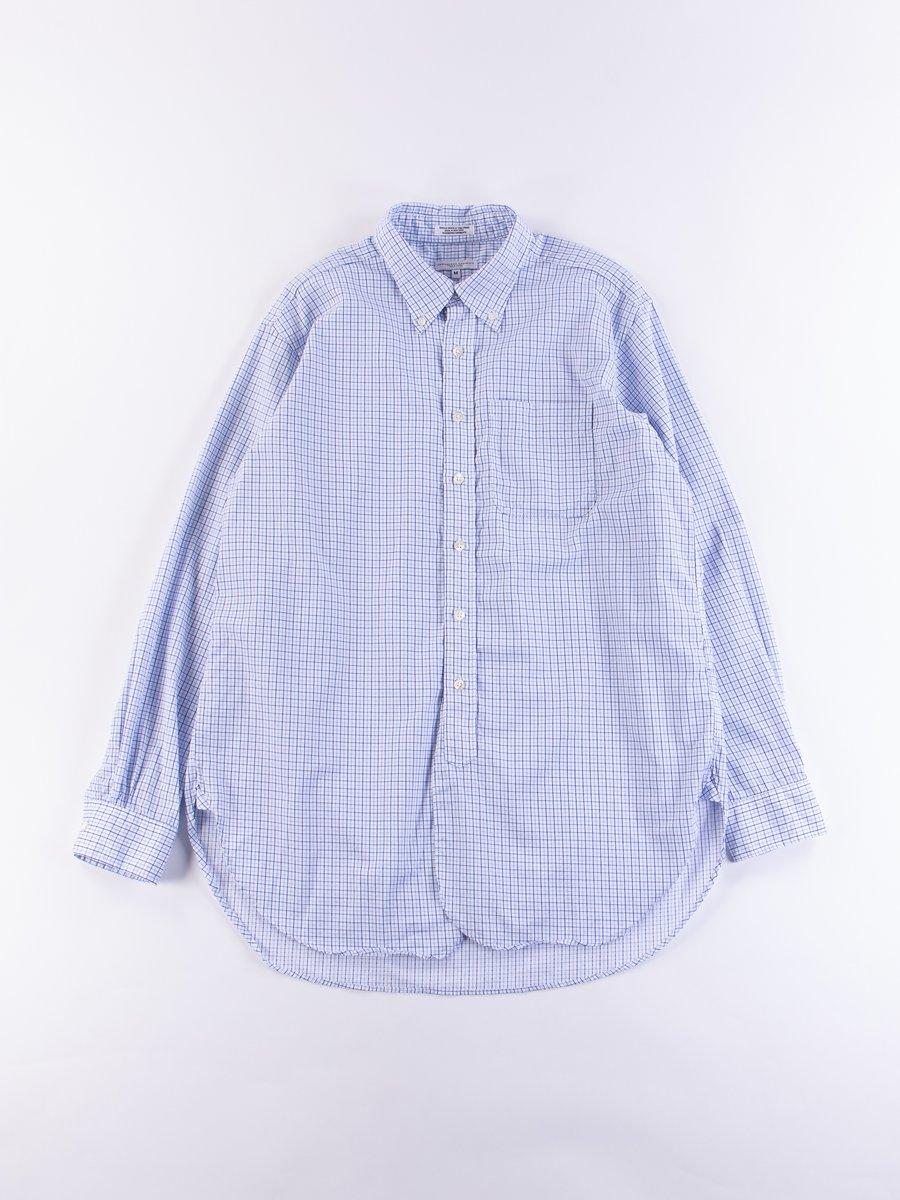 Blue/Navy Cotton Tattersall 19th Century BD Shirt