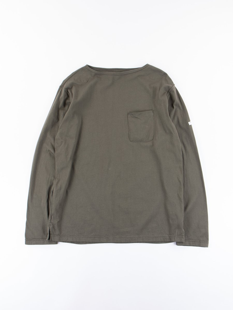 Olive Cotton Jersey Bask Shirt