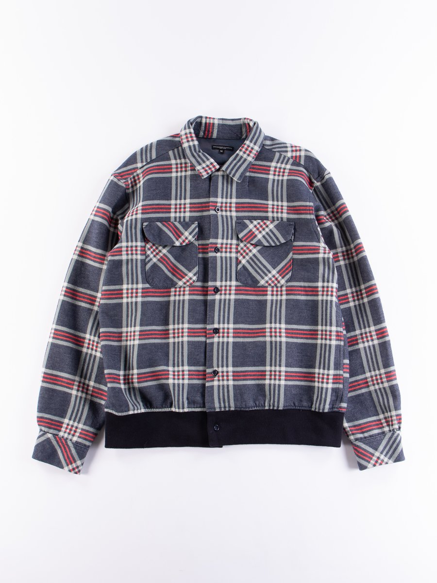 Navy/Teal/Red Big Plaid Classic Shirt