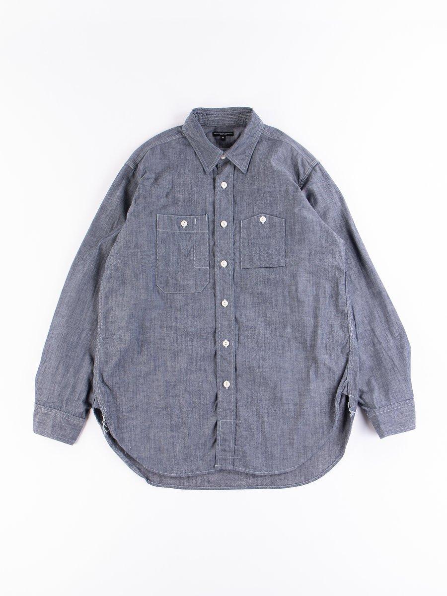 Indigo Cotton Cone Chambray Work Shirt