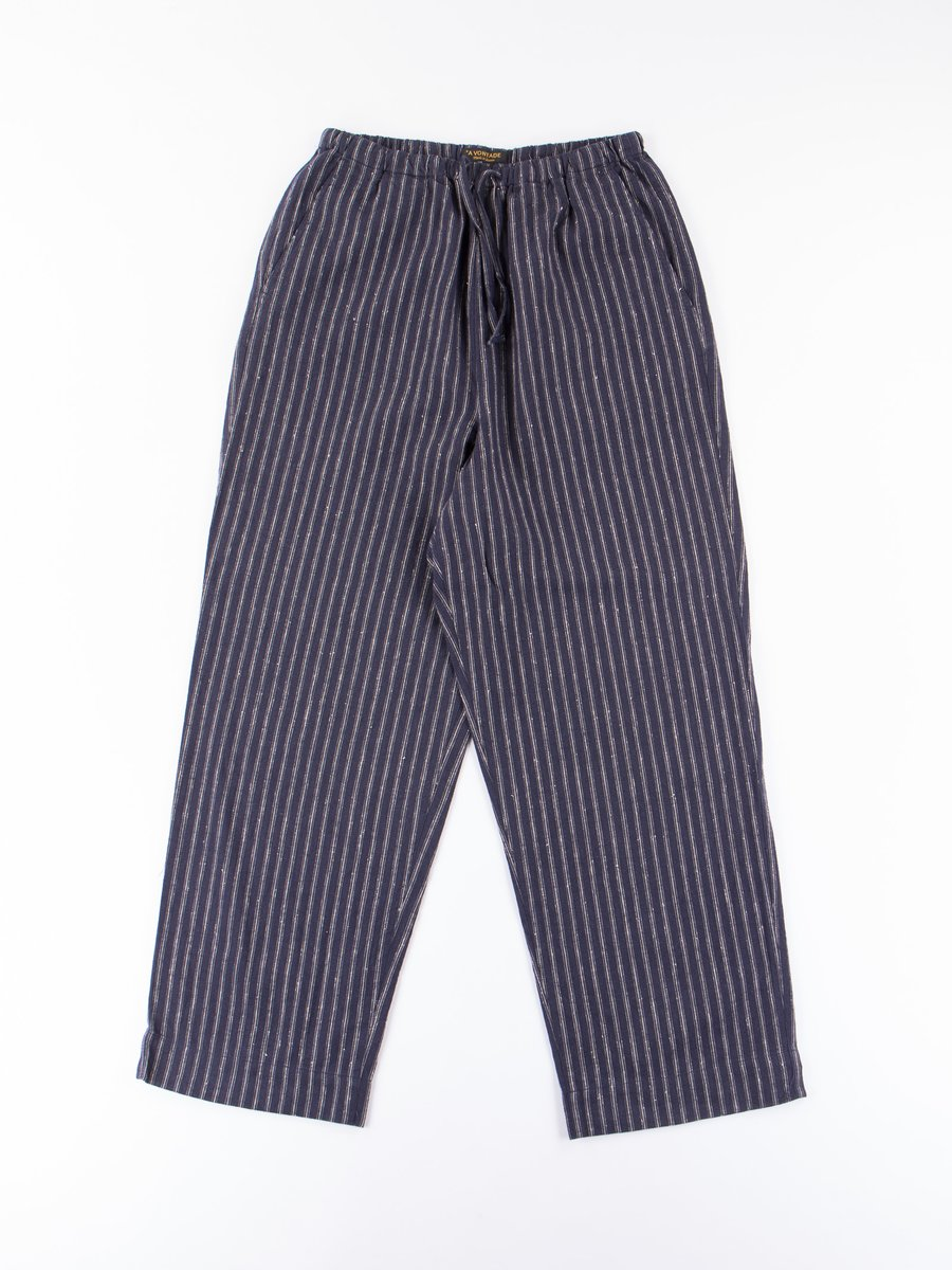 Dark Navy Stripe Lax Easy Pants