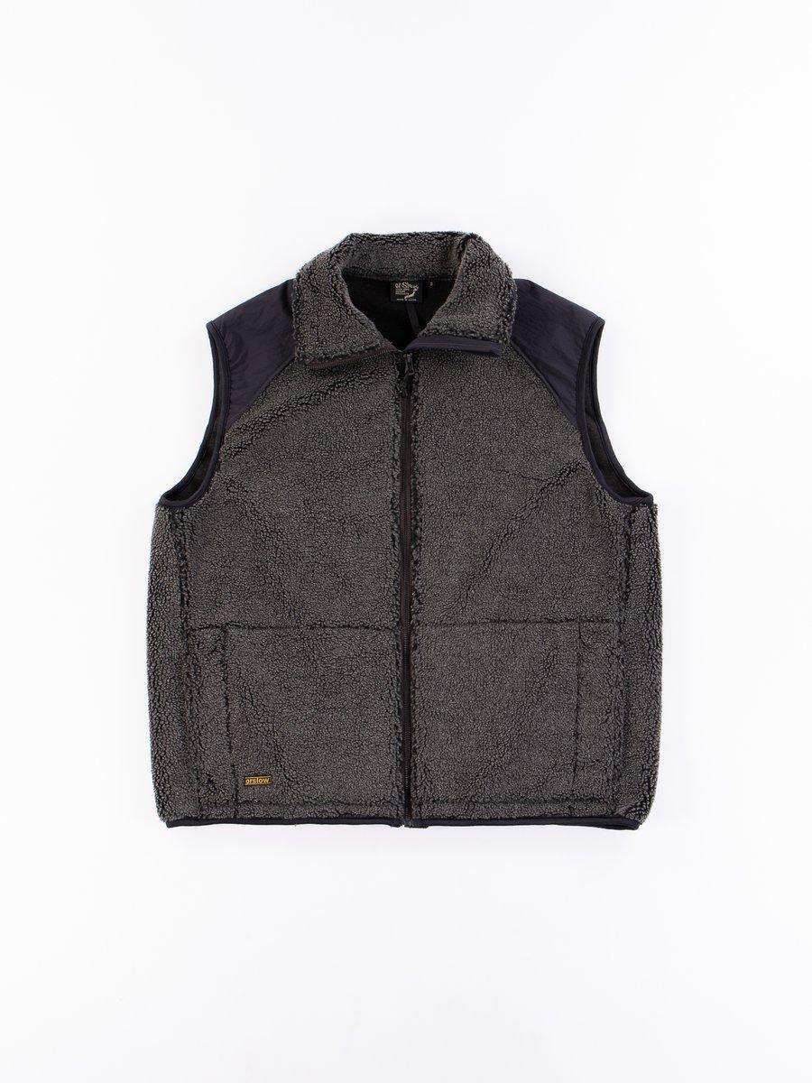 Charcoal Grey Fleece Vest