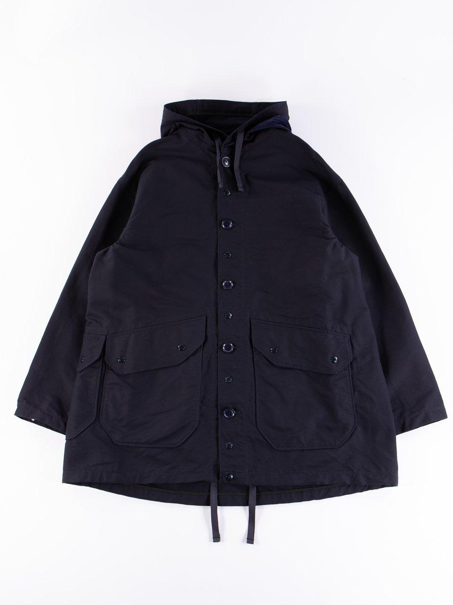 Navy Cotton Double Cloth Madison Parka