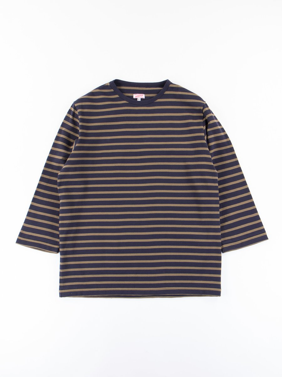 Navy/Olive Cotton Jersey Brehat Tee
