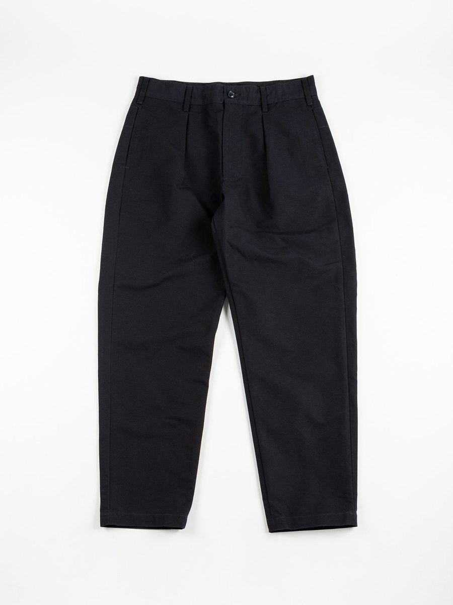 CARLYLE PANT NAVY COTTON DOUBLE CLOTH