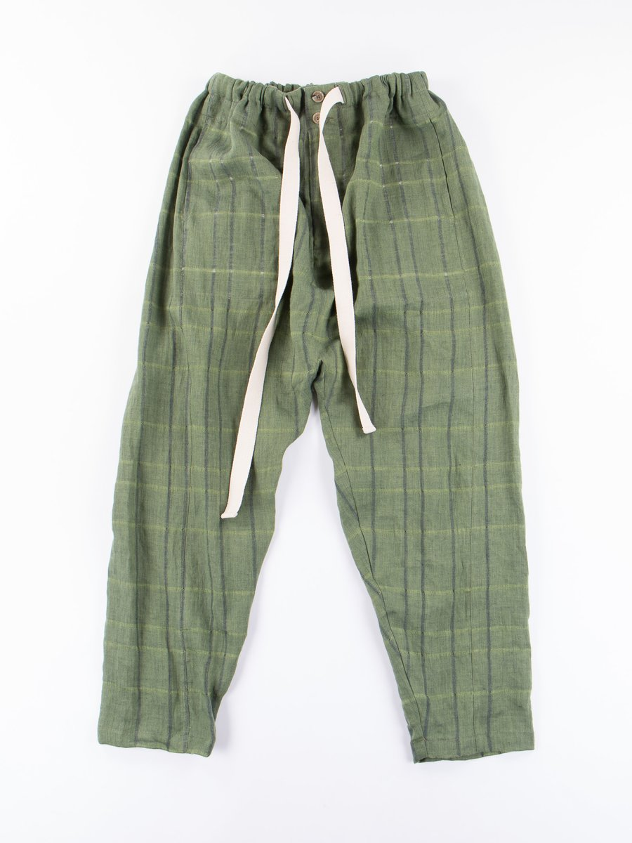 Green Check Shalwar Trousers