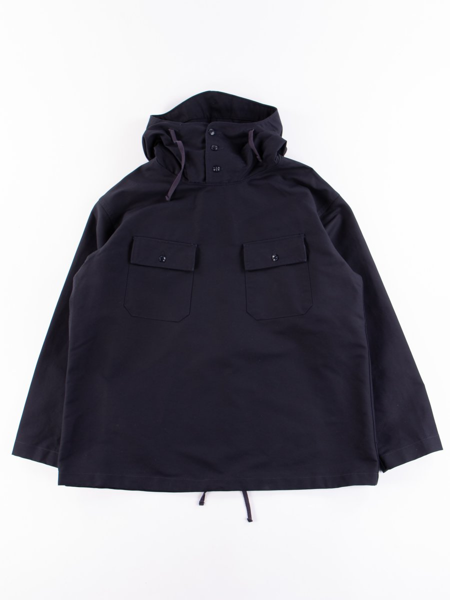 Navy Cotton Double Cloth Cagoule Shirt