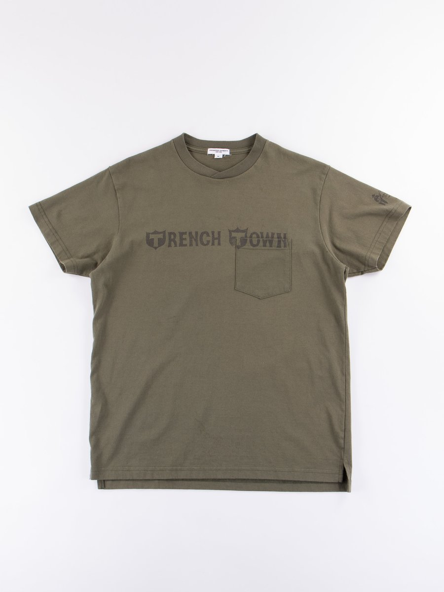 Olive Trench Town Printed T–Shirt