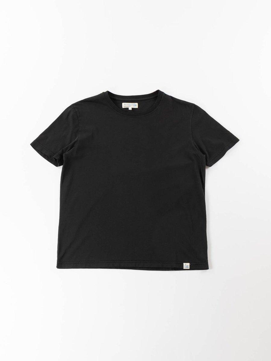 GOOD BASICS CREW NECK T–SHIRT DEEP BLACK