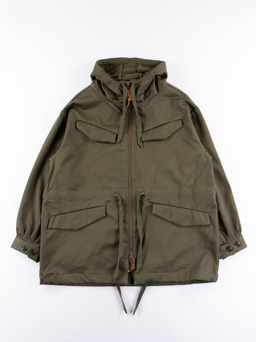 Olive Sateen Vancloth F.Zip Mountain Smock
