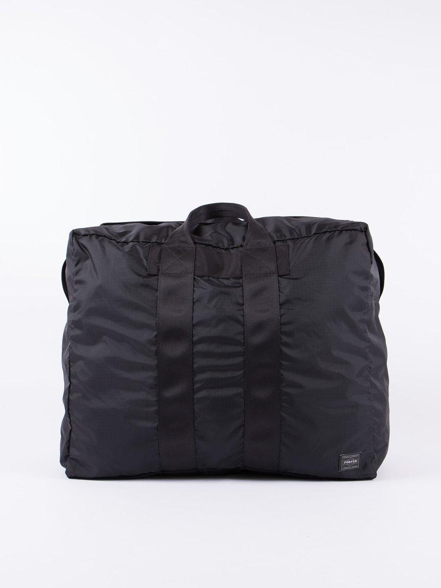 Black Flex 2Way Duffle Bag S