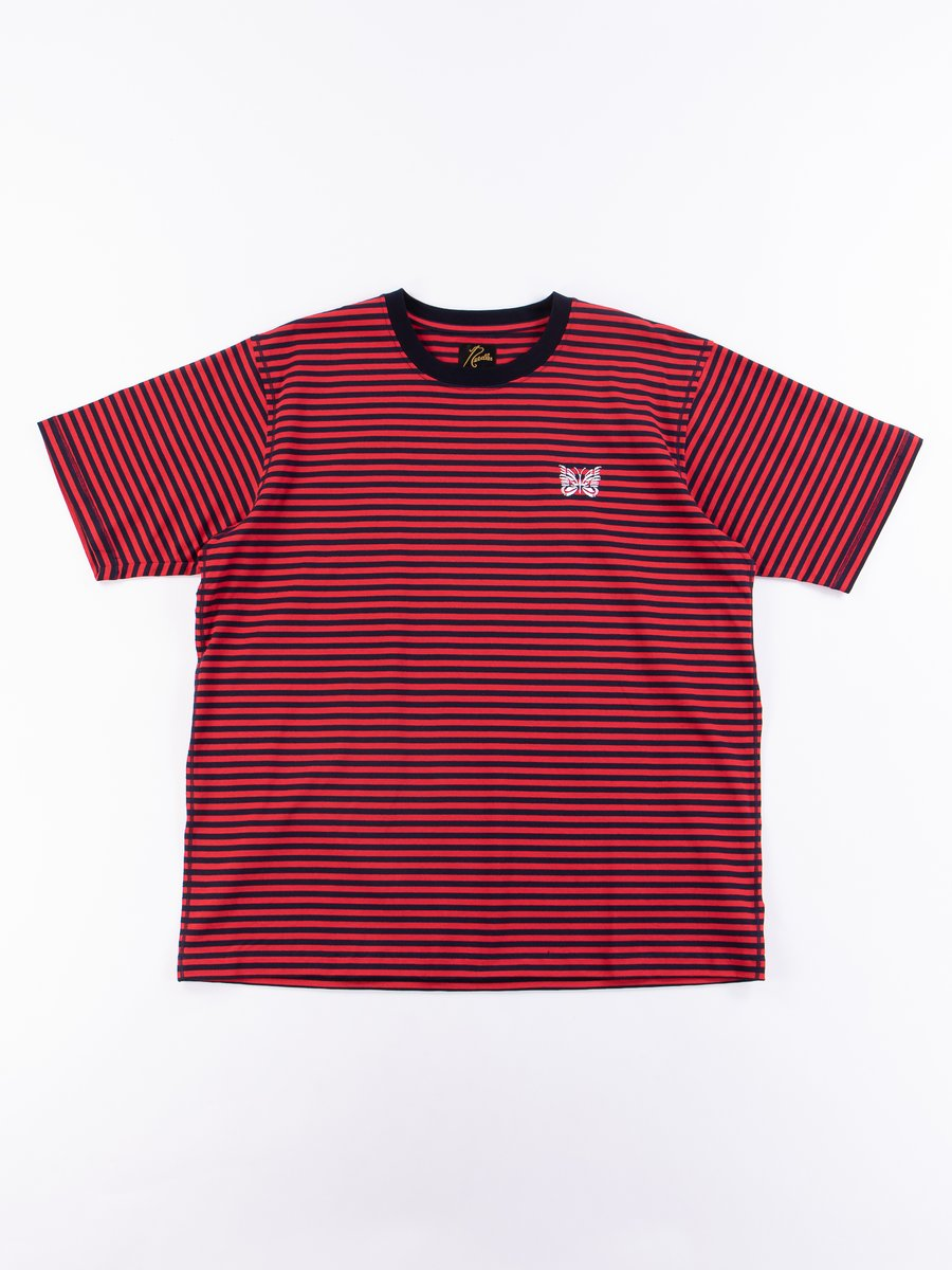 Red Jersey Stripe Papillon Tee