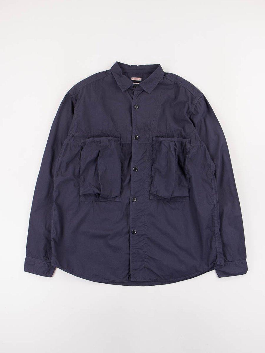 Navy Broadcloth Anorak Shirt