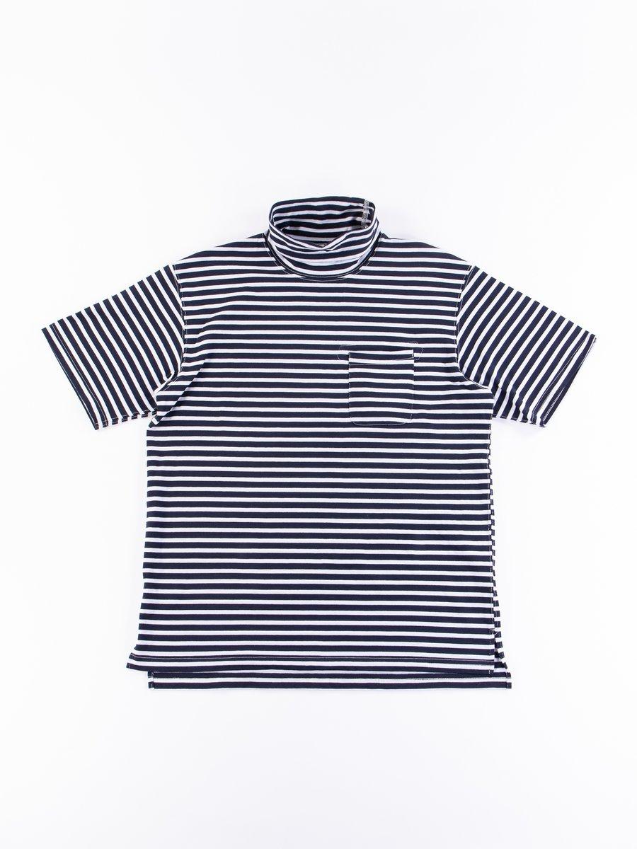 Navy/White PC Stripe Jersey Short Sleeve Turtle