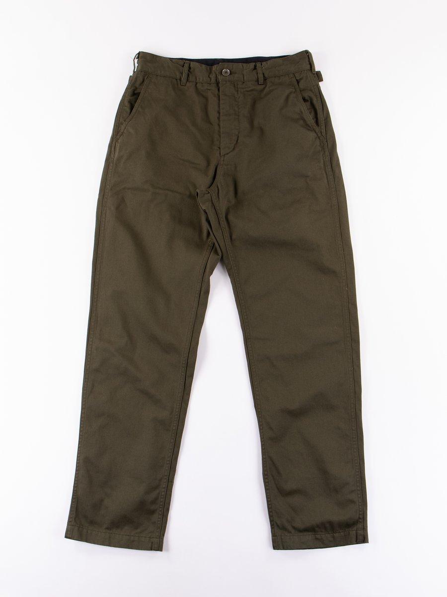 Olive Chino Twill Ground Pant