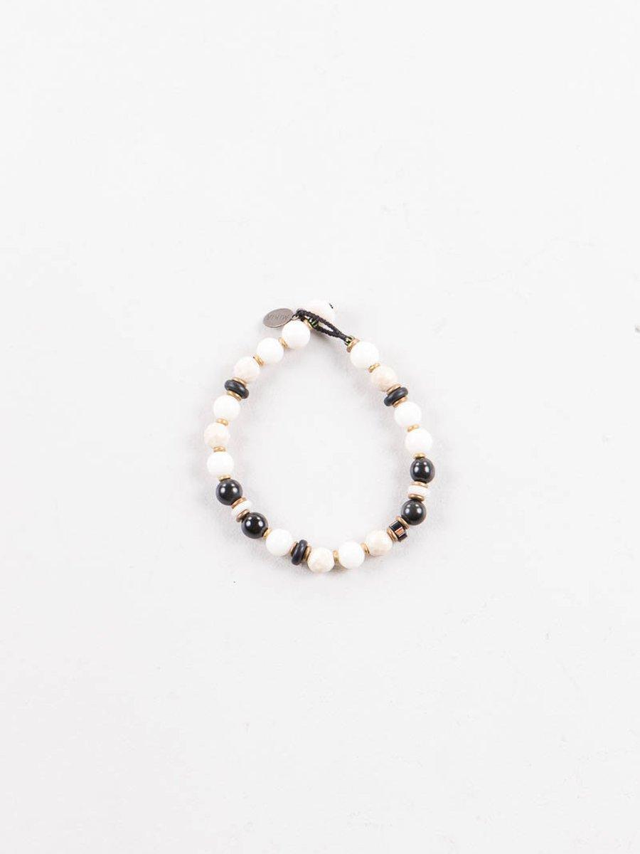 White Coral/Riverstone 8mm Bracelet
