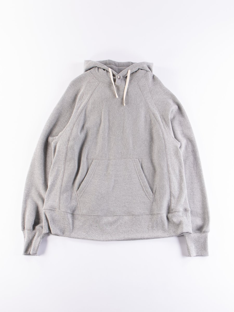 Grey Plain Raglan Hoody