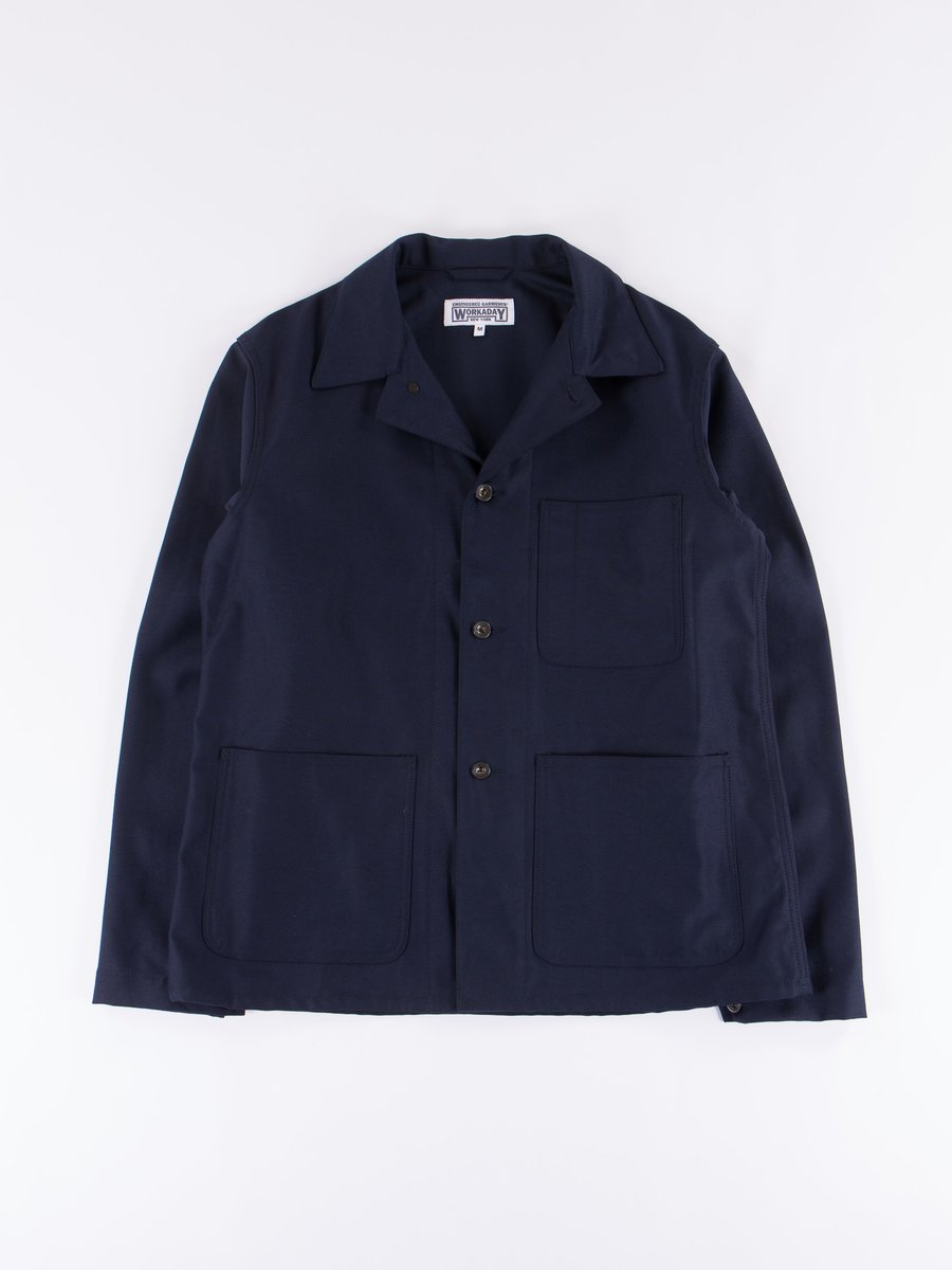Dark Navy Reversed Sateen Utility Jacket