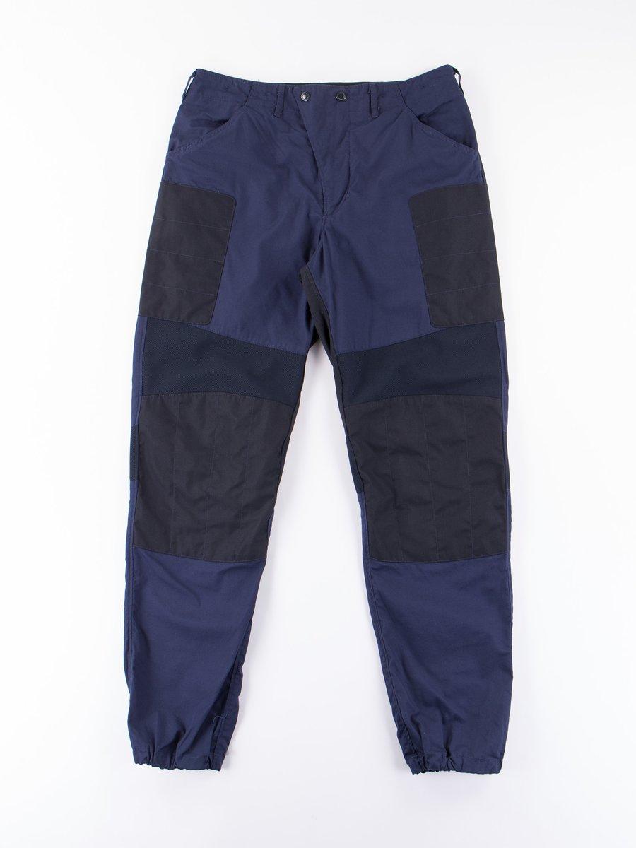 Dark Navy Malibu Poplin Moto Pant