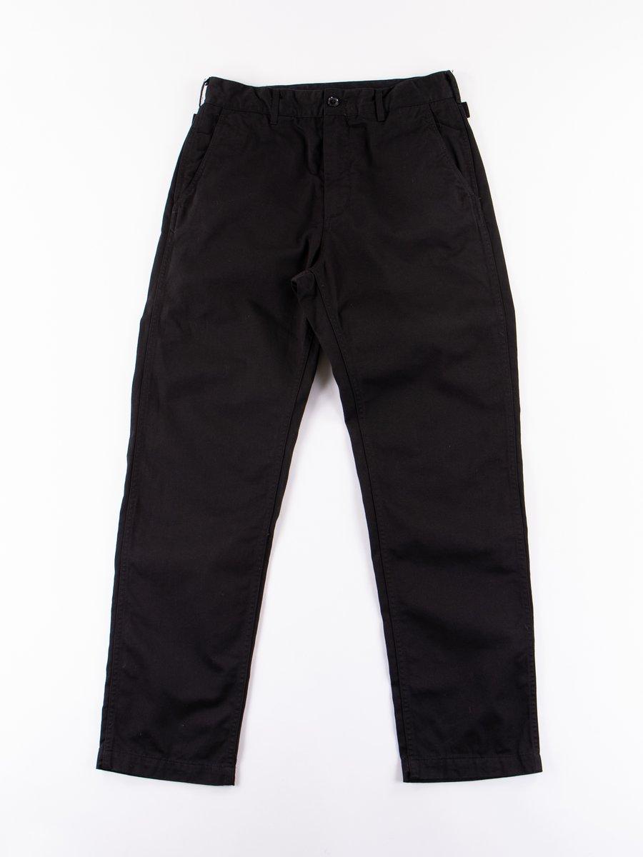Black Chino Twill Ground Pant