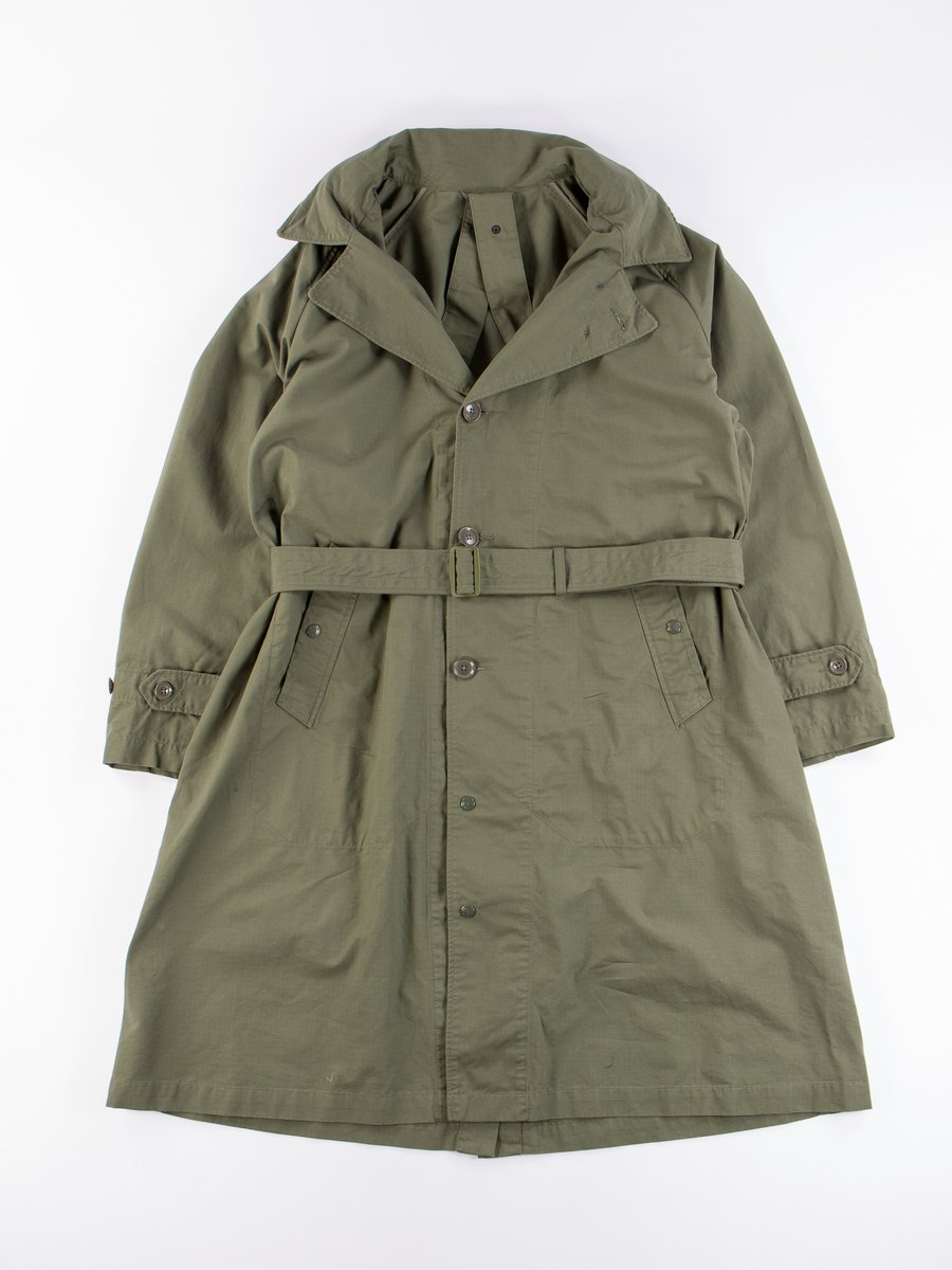 Olive Cotton Ripstop Drizzler Coat