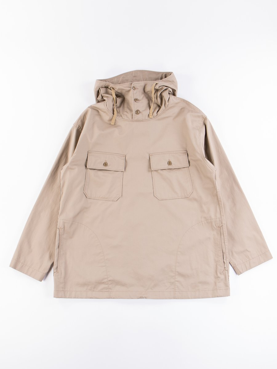 Khaki Highcount Twill Cagoule Shirt