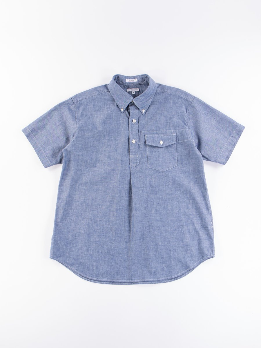Blue Cotton Chambray Popover BD Shirt