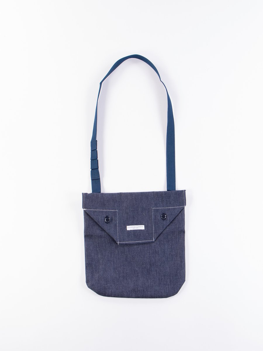 Indigo 8oz Cone Denim Shoulder Pouch