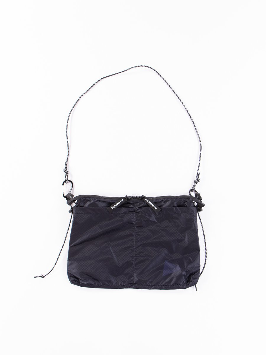 Navy Sil Sacoche Bag