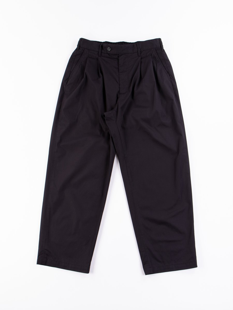 Black Highcount Twill Emerson Pant