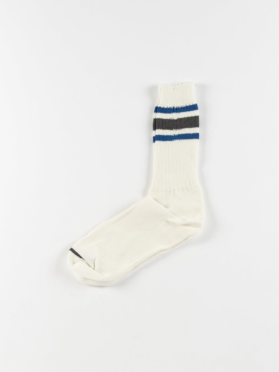 RECOVER 3 STRIPES CREW SOCKS CHARCOAL
