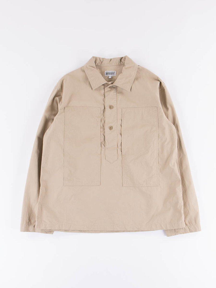 Khaki Cotton Ripstop Army Shirt