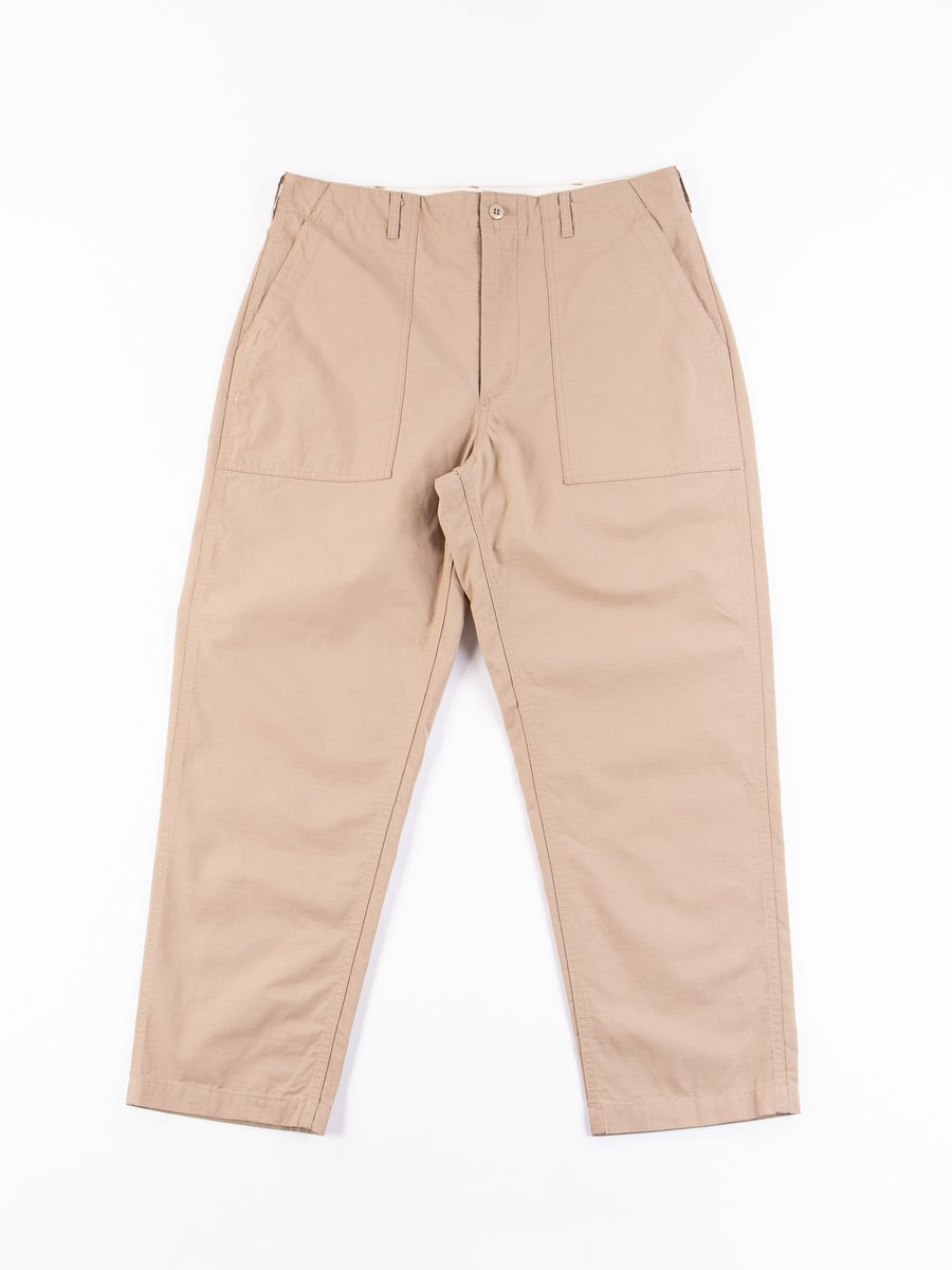 Khaki Cotton Ripstop Fatigue Pant
