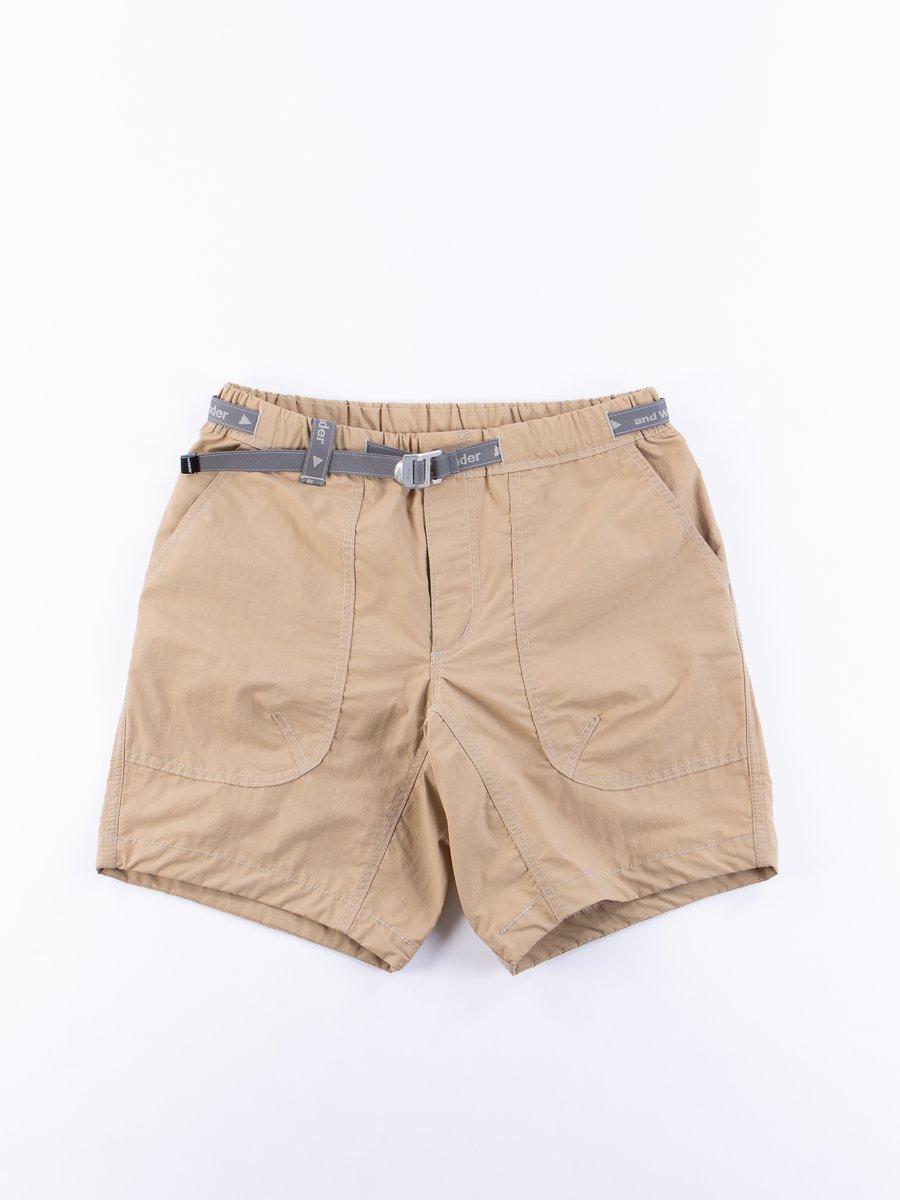 Khaki Nylon Taffeta Short