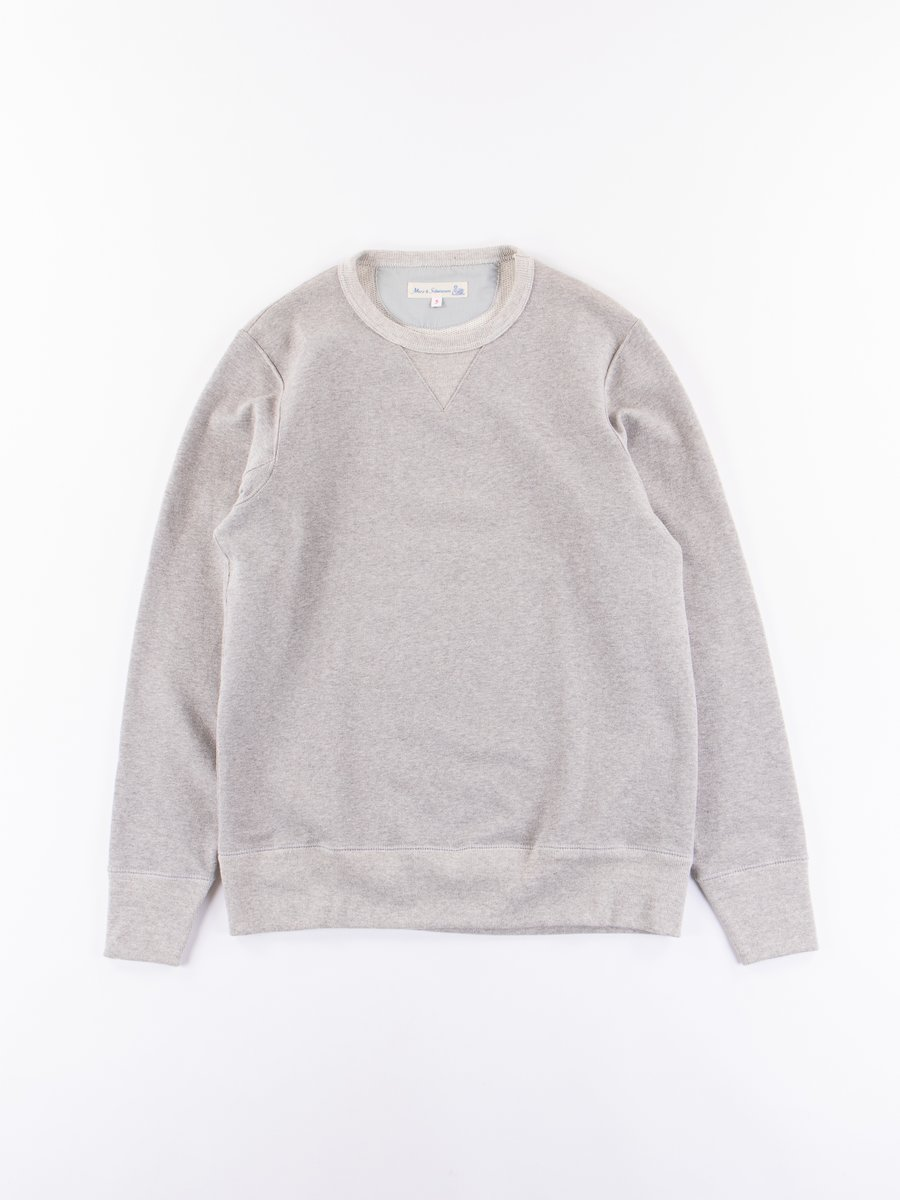 Grey Melange 3S48 Organic Cotton Heavy Sweater