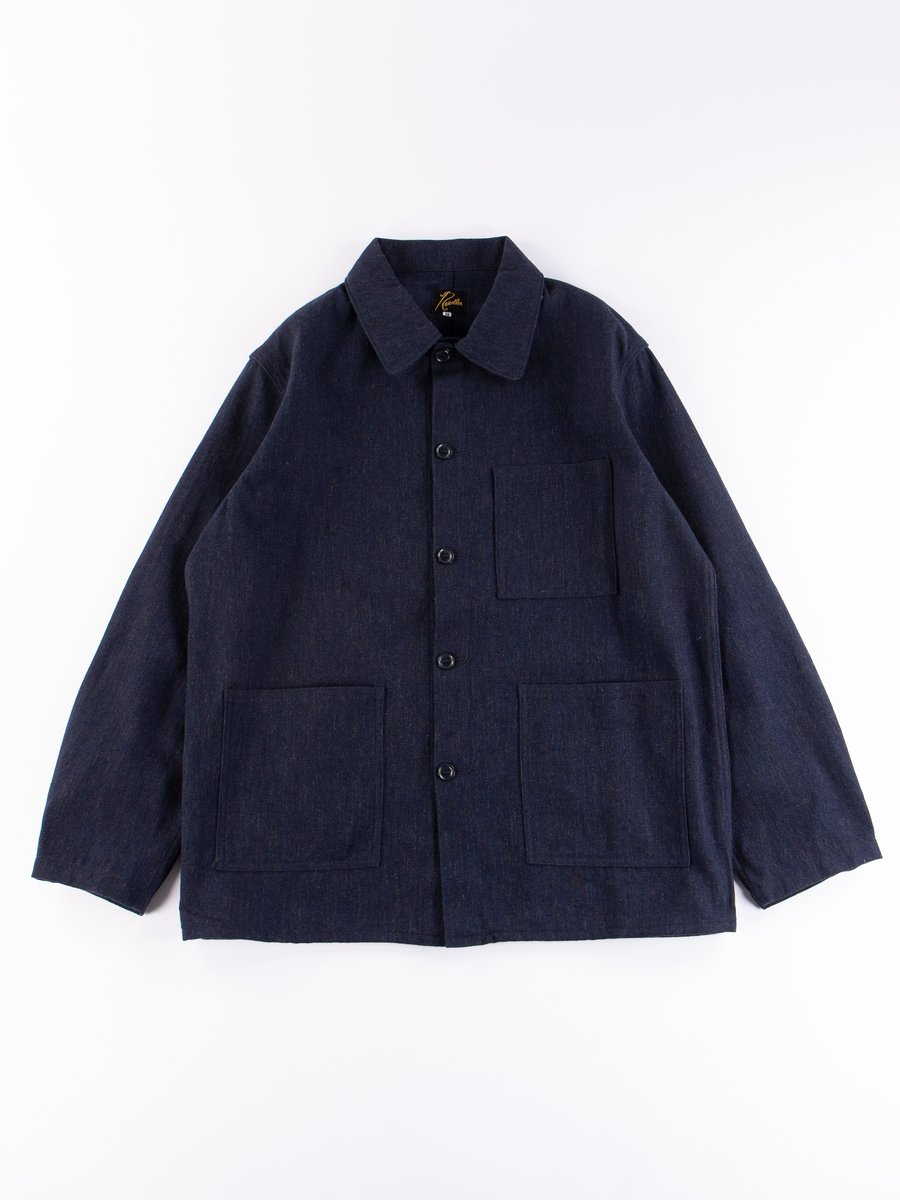 Navy Wool/Cotton Serge D.N Coverall