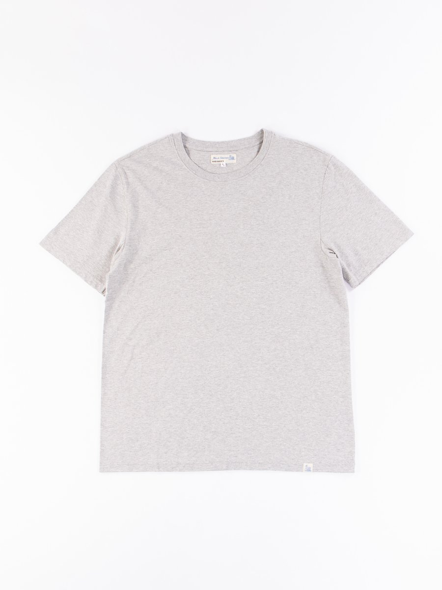 Grey Melange Good Basics CT01 Crew Neck Tee