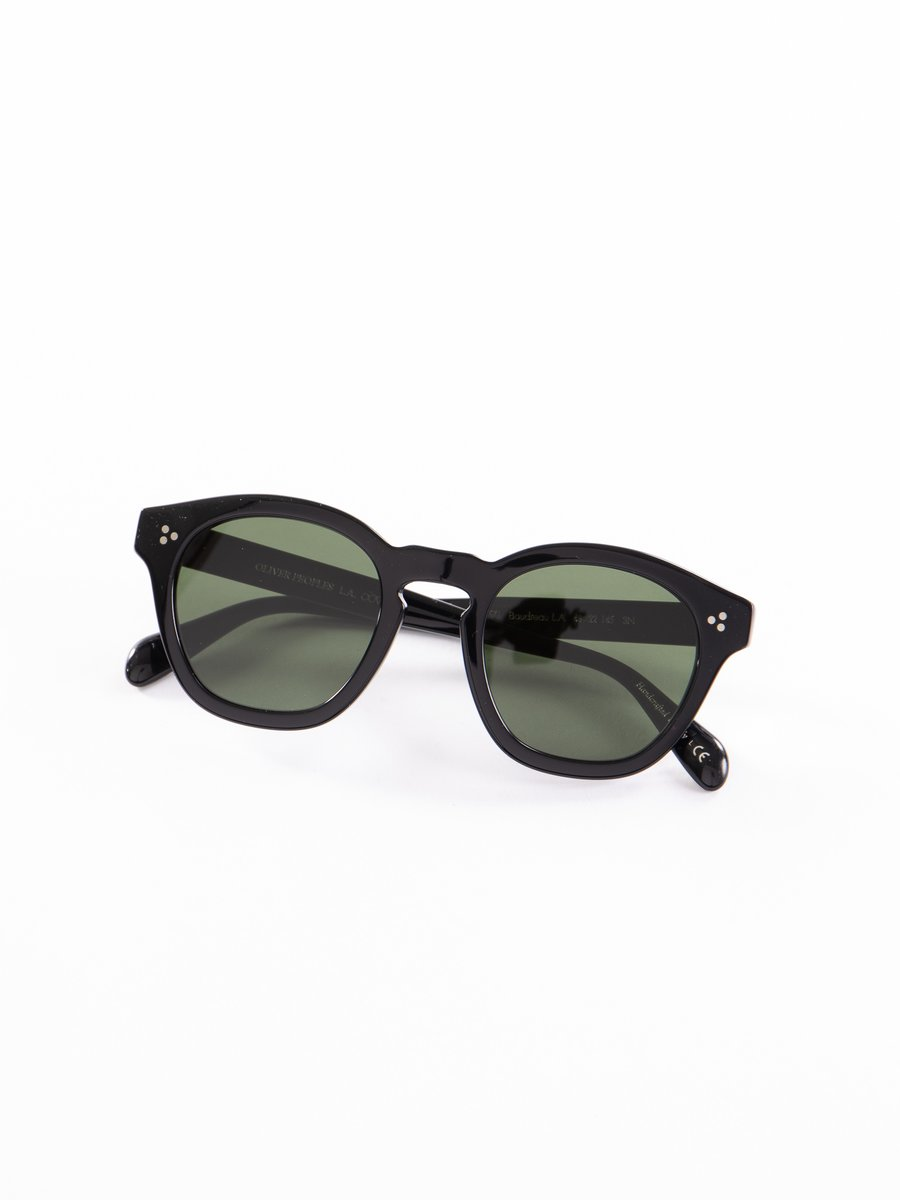 Black/Dark Green Boudreau LA Sunglasses