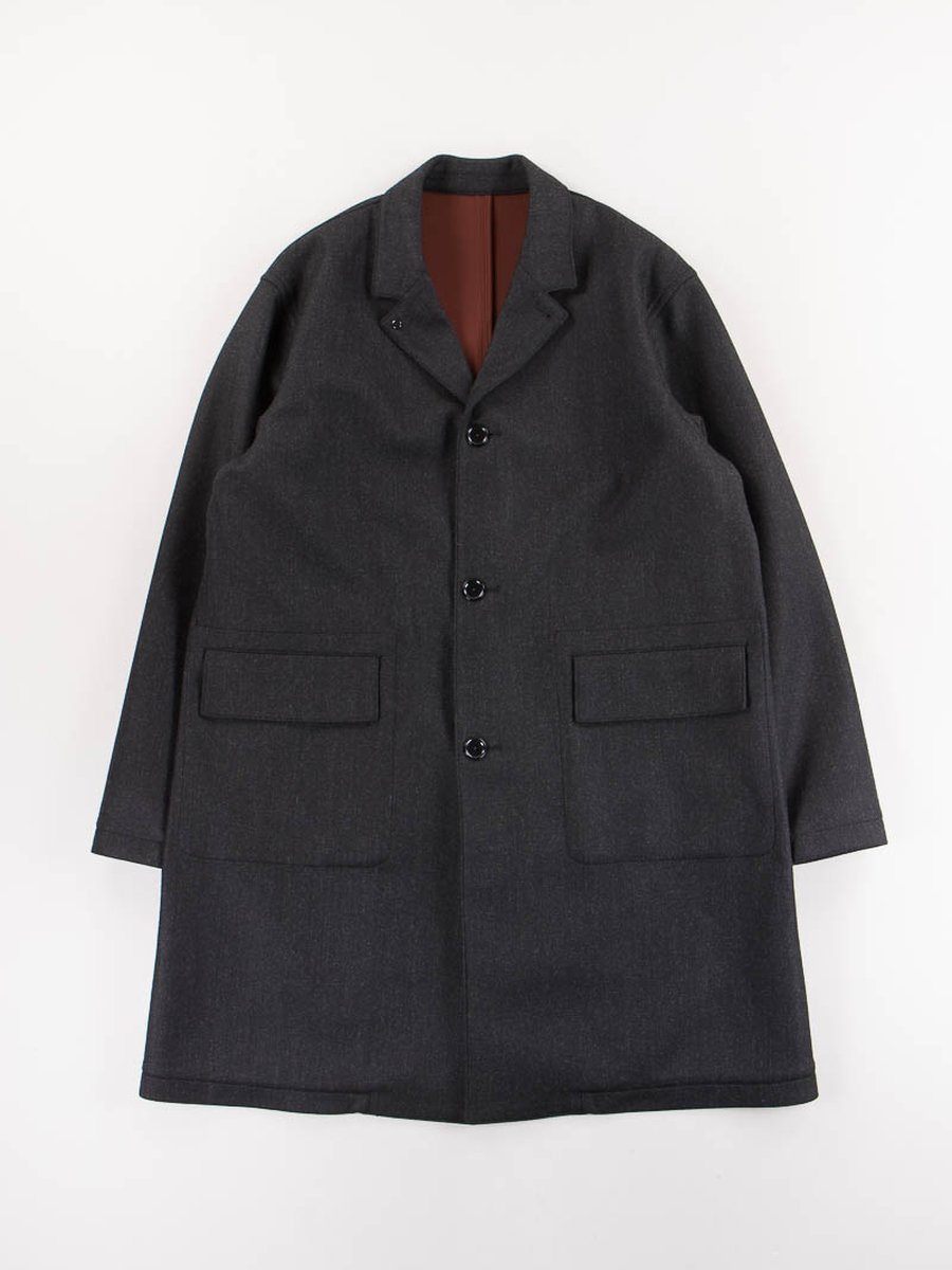 Charcoal Bonded Check Coat