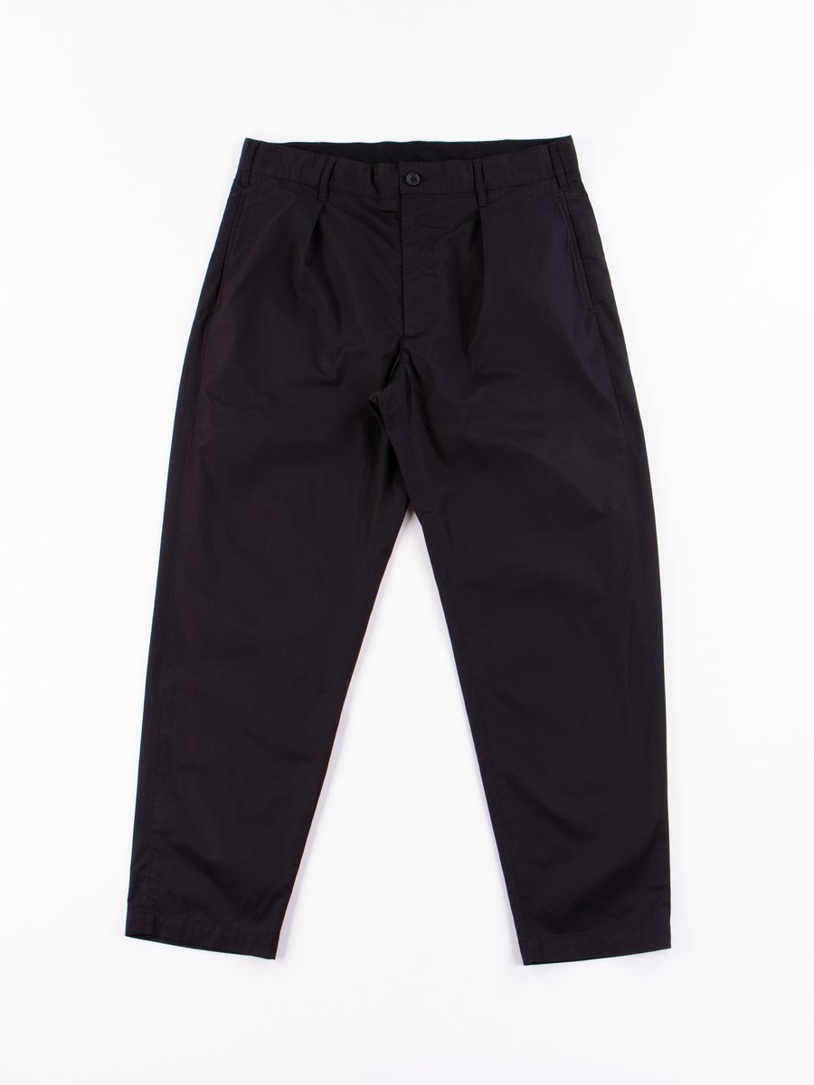 Black Highcount Twill Carlyle Pant