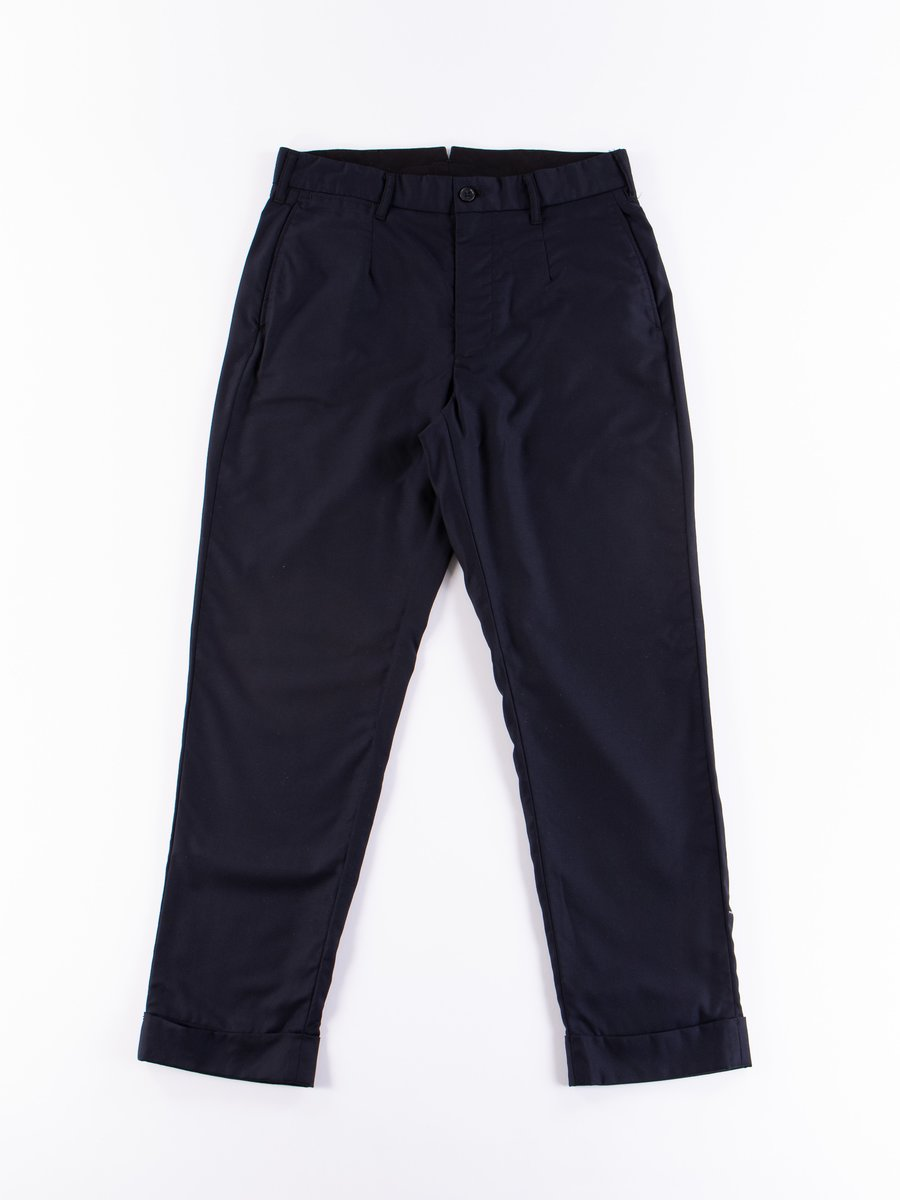 Dark Navy Worsted Wool Gabardine Andover Pant