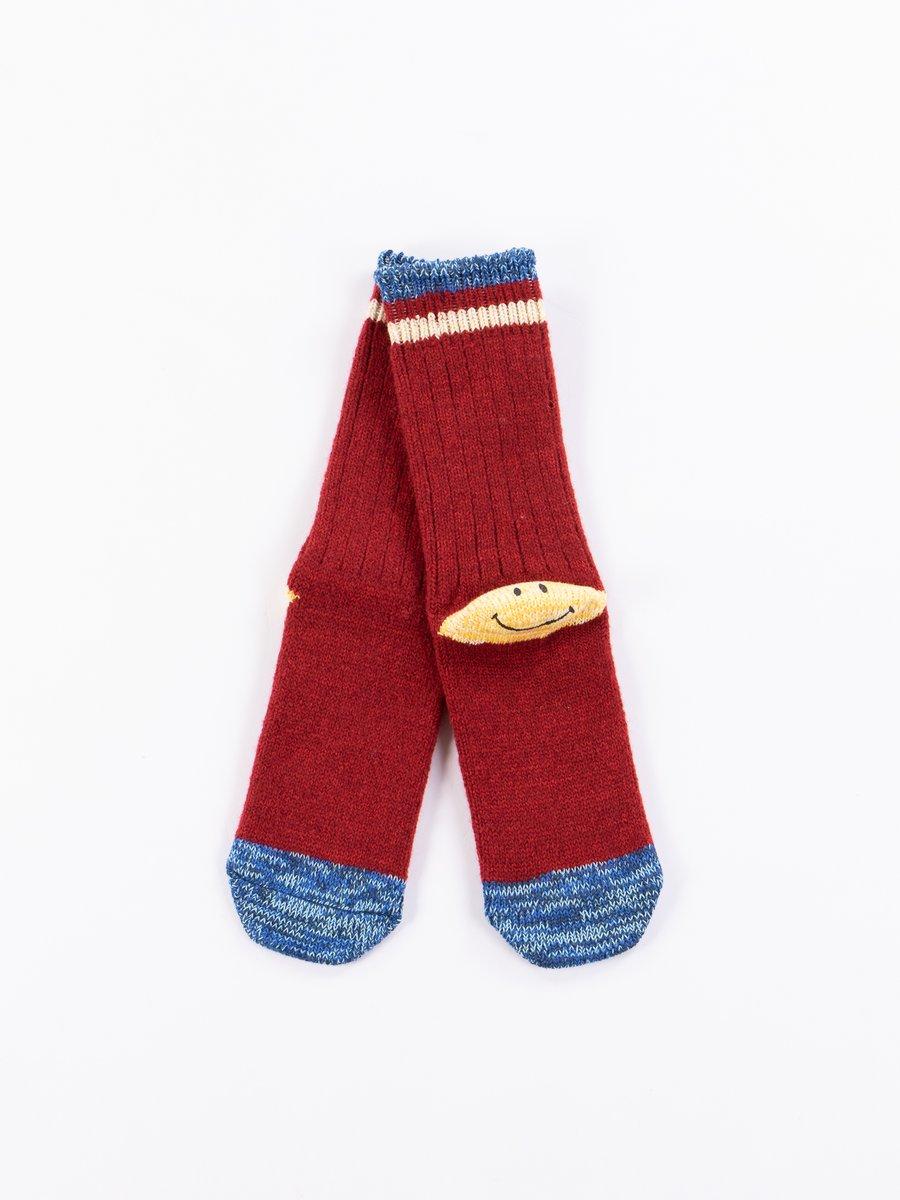 Red 72 Yarns Wool Ivy Smiley Heel Socks