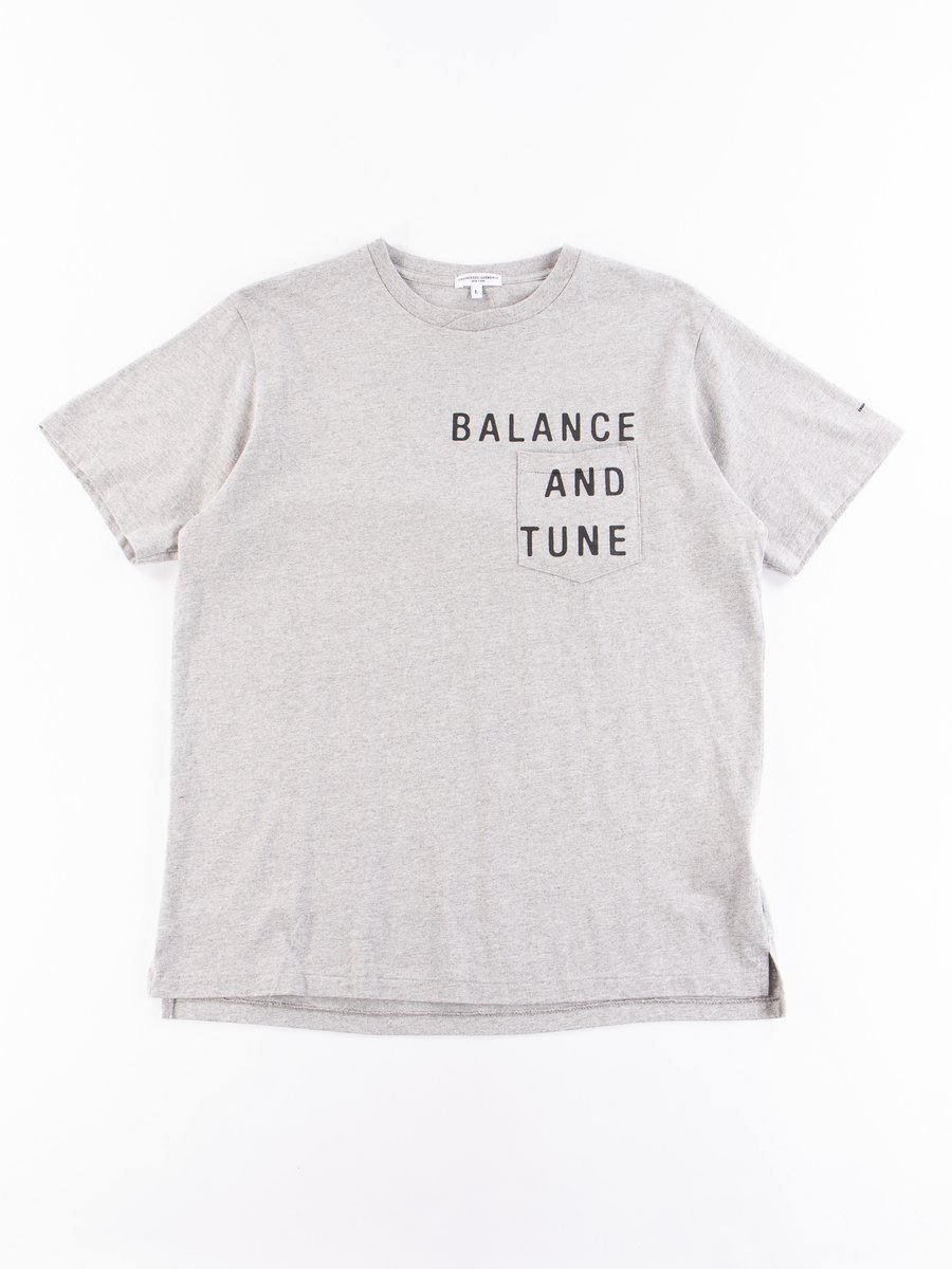 Grey Balance Printed Cross Crew Neck T–Shirt