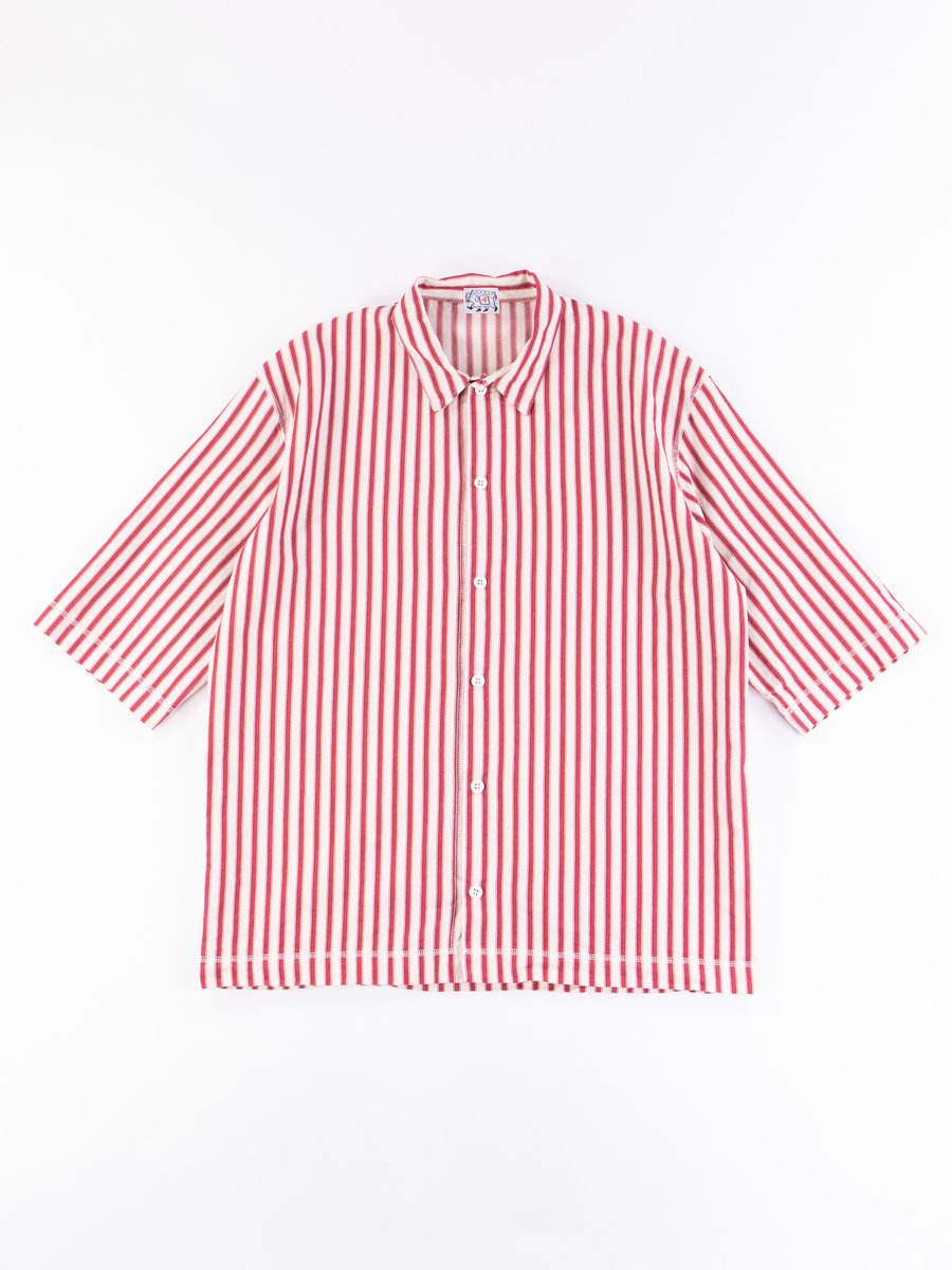 Red Armchair Stripe Weavers Stock SS Square Shirt