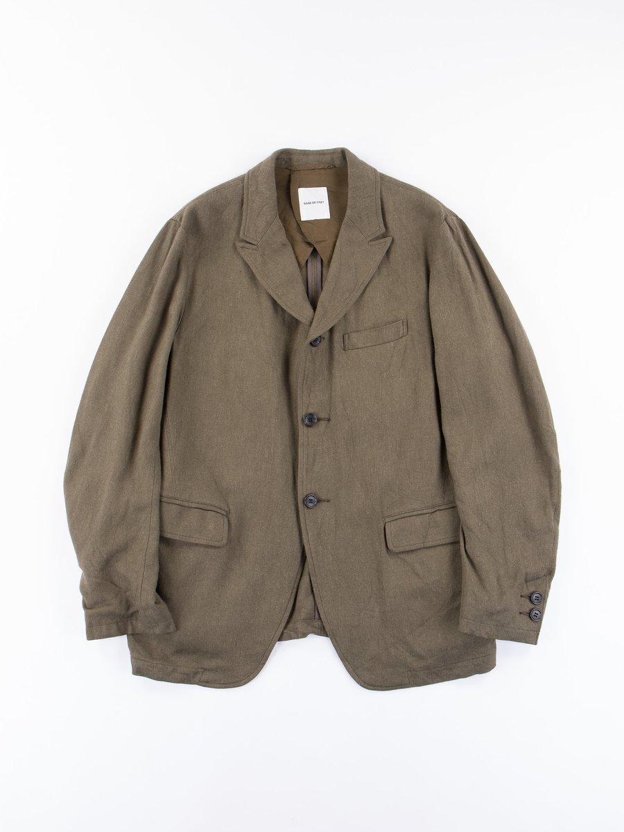 Olive Peaked Lapel Jacket