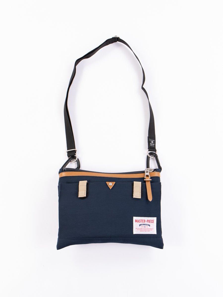 Navy 02343 Link Shoulder Bag