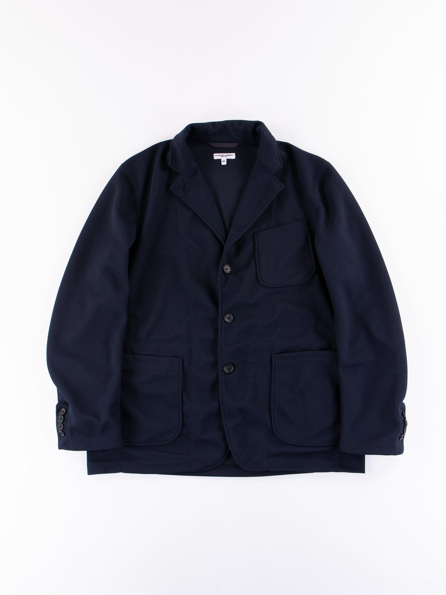 Dark Navy 7.75oz Diamond Knit Blazer