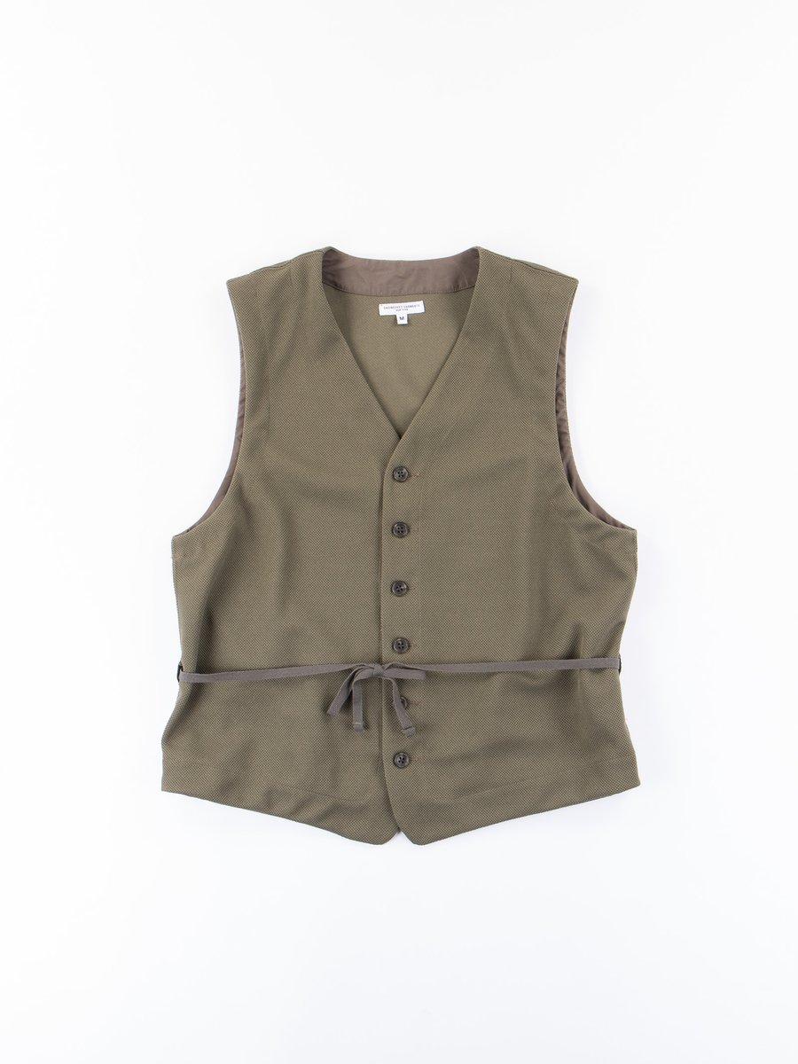 Olive 7.75oz Diamond Knit Vest