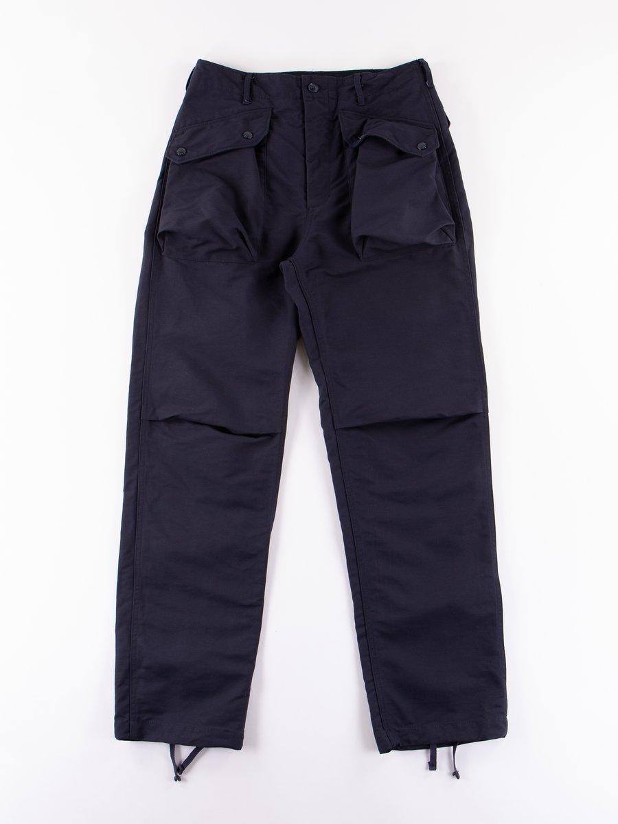 Dark Navy Cotton Double Cloth Norwegian Pant